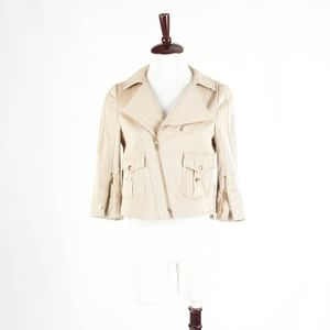 GUCCI – Gorgeous Canvas Moto Jacket – Size 40